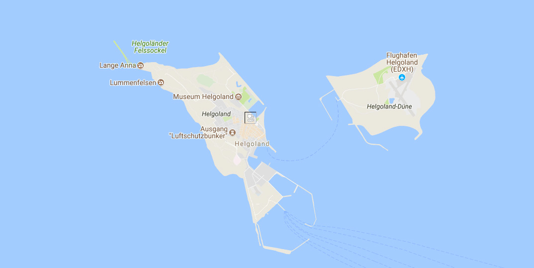 Helgoland – Karte der Hochseeinsel