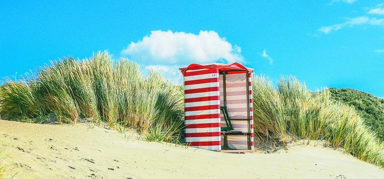 Strandkorb auf der Nordseeinsel Borkum