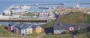 Hafen uaf der Insel Helgoland