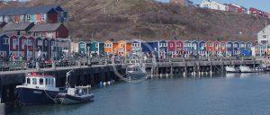 Helgolandänder Hummerbuden Hafen
