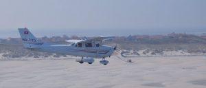 Flugzeug über Juist